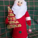 New Santa Claus Christmas Tree Topper Decoration Shelf Sitter Centerpiece OOAK