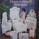 NEW Plastic Canvas Patterns Barbie Doll Hearts N Flowers Bedroom House Furniture