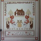 Vintage Cross Stitch Sampler Pattern Warm Thyself at our Hearth Our Hearts Will Warm thy Soul