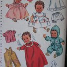 "No Copies Original Vintage 1950's Baby Dolls Wardrobe Sewing Patterns 24"" Uncut 3406"