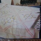 Vintage Mountain Mist Quilt Pattern Old Mexico 80 x 96 Quilted Bedspread