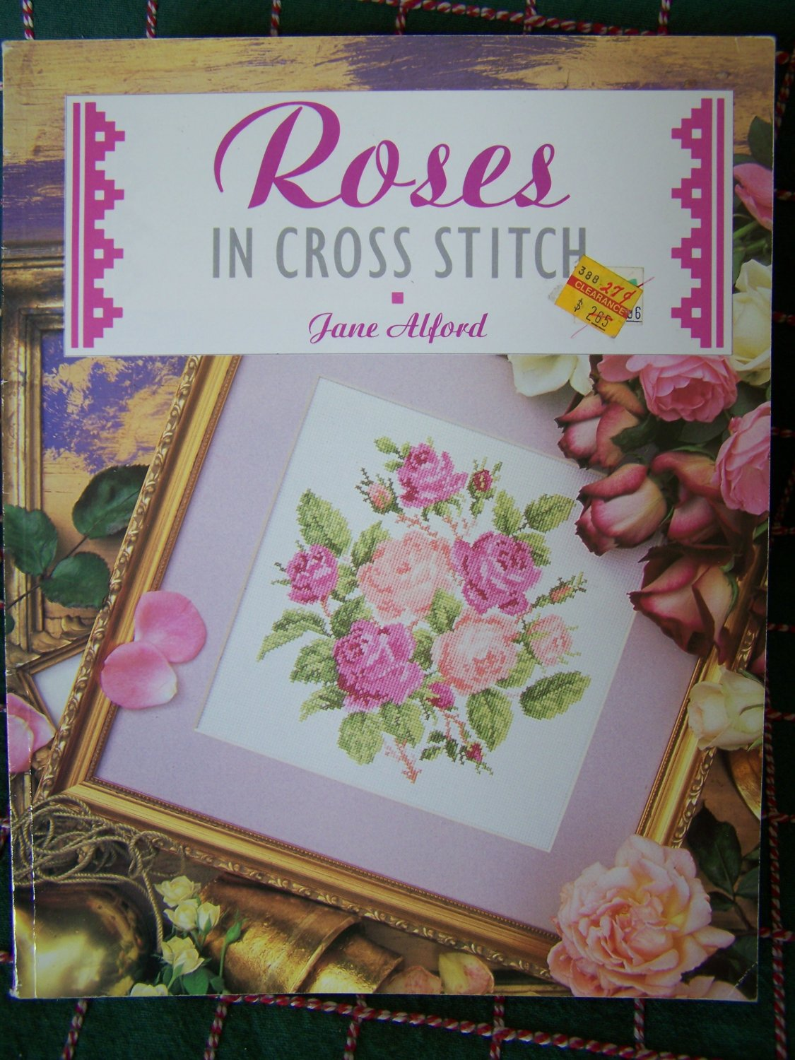 Jane Alford Roses in Cross Stitch Pattern Book Floral Charts Graphs Patterns
