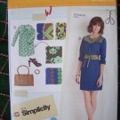Uncut Simplicity Sewing Pattern 2060 Lisette Dress & Belt 14 16 18 20 22