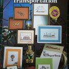 17 Vintage Cross Stitch Patterns Charted Antique Transportaion Cars Planes Boats Carriage +
