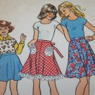 1970s Vintage Girls Top Two Length Skirt Sz 8 Sewing Pattern 6869