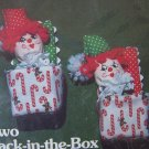 Vintage Two Jack In The Box Christmas Ornaments Sewing Craft Kit Yours Truly