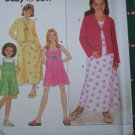 Sewing Pattern Girls Easter Sun Dress Jumper Sundress Knit Jacket 9059 Sz 7 8 10 12 14 16