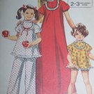 0 USA S&H Easy Girls 10 Vintage Pajama Sewing Patterns 9733 Pj Top Pants or Babydoll Set