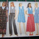 Misses Jumper Dress Jumpsuit Shorts or Pants Shirt XS S M Easy Sewing Pattern 4879