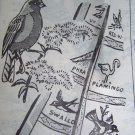 VTG Embroidery Patterns Anne Cabot Birds OF America Quilt 5748