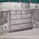 U Bild Vintage Mid Century Woodworking Plans Pattern Sewing Center Storage Cabinet