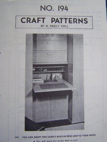 U Bild Vintage Drop Leaf desk wall unit wood working pattern 194