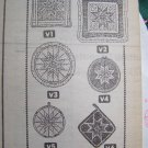 1990 Reader Mail Order Sewing pattern 5074 Patchwork designs for pillows potholders wallhanging.