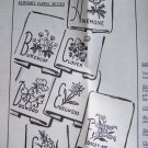 Vintage Mail Order Embroidery pattern transfers Alphabet Floral Motifs 2351