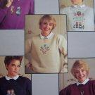 VTG Cross Stitch Patterns To Decorate Sweatshirts Rag Dolls Duck Angel Sampler