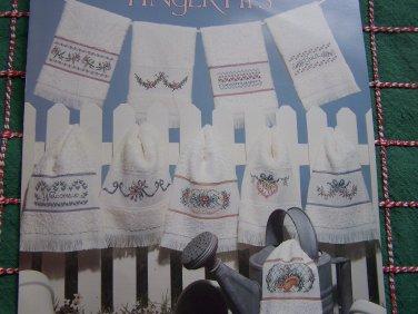 10 VTG Cross Stitch Embroidery Patterns Fingertip Towel Designs
