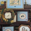 VTG Country Ducks Cross Stitch Patterns Drake Hen Shaker Sampler Pictures