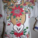 Ugly Christmas Party Sweatshirt Sweater Vintage Rudolph Reindeer