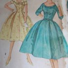 Uncut VTG Dress Full Softly Pleated Puffy Skirt Sewing Pattern 2763