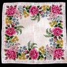 Burmel Original Vintage Handkerchief Pink Roses