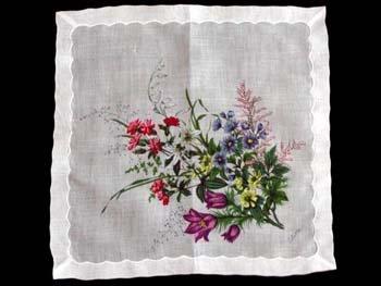 Colette Floral Print Vintage Handkerchief