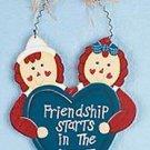 RAGGEDY ANN & ANDY FRIENDSHIP WALL HANGING  MIB
