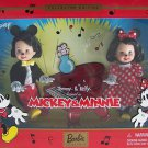 "DISNEY MICKEY & MINNIE MOUSE 4½"" KELLY AND TOMMY Collectors Set NRFB"