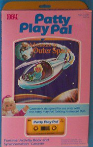 1987 IDEAL TALKING  PATTY PLAY PAL ADVENTURES IN OUTER SPACE  BOOK CASSETTE MIB