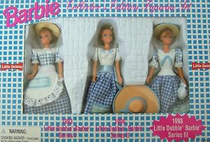 "4"" BARBIE COLLECTOR'S EDITION FIGURINE SET of 3  LITTLE DEBBIES NRFB"