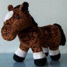 "SOFT VELVETY BROWN 12"" x 9"" BATTAT EQUESTRIAN BROWN PONY STUFFED ANIMAL Tushtag"