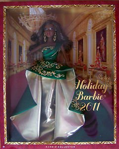 2011   AA HOLIDAY  BARBIE  DOLL   by Robert Best    NRFB BLACK BARBIE COLLECTOR