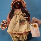 "11"" MARIAH ROSE HAND CRATED WOODEN DOLL by JAME McDOW  Lindsay Hollow Farms NEW"