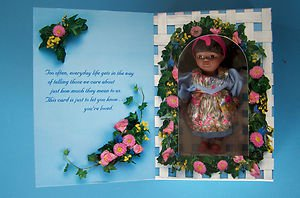 """MOTHER'S DAY GREETING CARD AA DOLL   6"""" Brown Hair &  Eyes 199 NRFB"""