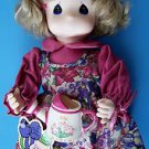 """1995 2nd Ed 12"""" Garden Friends Collection PRECIOUS MOMENTS MARCH LILY #1427"""