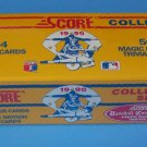 1990 SCORE COLLECTOR SET 704 BASEBALL PLAYER CARDS - 56 MAGIC MOTION Box Sealed