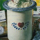 COUNTRY HEART DIP BOWL WITH BASE NEW