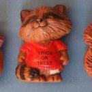 (5) HALLMARK MERRY MINIS PINS 1980's Shamrock Acorn ST Raccoon &  Squirrel Bear