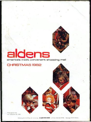 ALDENS WISH BOOK FOR THE 1982 SEASON CHRISTMAS CATALOG - Original Sleeve