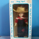 """Ideal  Porcelain Look Vinyl 8"""" SHIRLEY TEMPLE as REBECCA OF SUNNY BROOK  NRFB"""