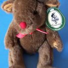 """13"""" Geppeddo PLUSH MINK COLORED ADORABLE DEER  with Tag"""