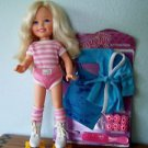 """1984 17"""" KIMBERLY ROLLERSKATER  w/MOC ROBE & HAIR ACCESSORIES SET"""