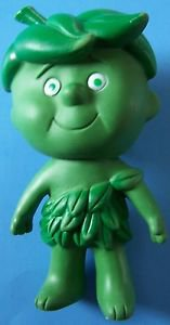 """VINTAGE Advertising  6"""" JOLLY GREEN GIANT LIL SPROUT 1973 RUBBER"""