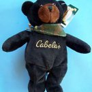 "9"" CABELAS BURT BLACK BEAR w/ Camouflage Scarf and Paper & Tush Tag NEW"