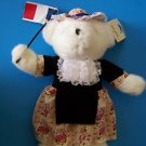 "16"" FRIENDSHIP BEARS FRANCE JOSIE French frock and Flag w Paper & Tush Tag NEW"