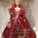 2002 HOLIDAY BARBIE DOLL dressed in Dark Red Gown NRFB