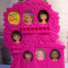 Barbie KELLY DOLL CASE -Adventures with Lil Friends of Kelly Doll Case- Holds 6