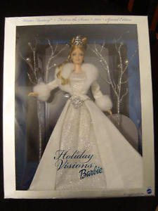 2003 HOLIDAY BARBIE DOLL dressed in Shimmering White Gown NRFB