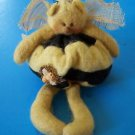 "8""  BEE SHELF SITTER Melissa Ann 1998  Handcrafted Felted w/Tags"