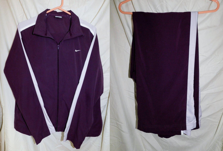 Nike Purple/Lav/White Track Jogging Suit  Pants Jacket Size Women Large (12-14