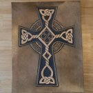Handtooled Leather Celtic Cross